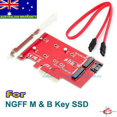 M.2 NGFF Both B & M Key SSD to PCI-E PCIE SATA III 3 Adapter Converter, All OS