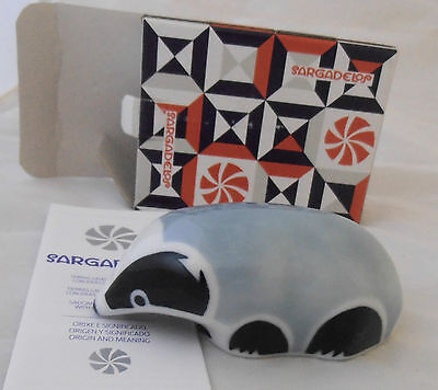 Sargadelos Porcelain Badger Figurine - NEW