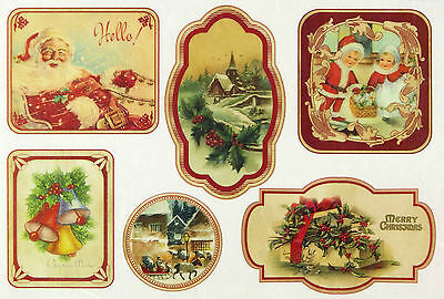 Rice Paper for Decoupage, Scrapbooking Sheet Hello Christmas