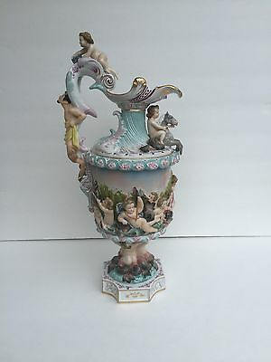 19th Century Renaissance Style Porcelain Pitcher (blue mark)