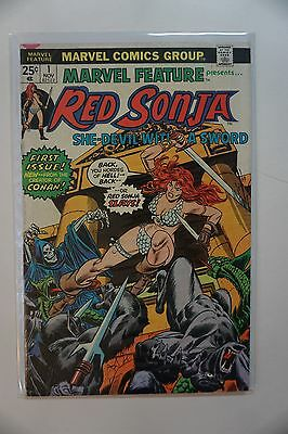 Marvel Feature Presents Red Sonja #1 (1975) Marvel Conan 1st
