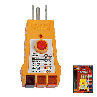 Electrical Gfi Gfci Receptacle Tester Ac Outlet Plug 3 Prong Gnd Open Hot Rev Ok