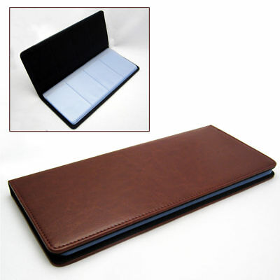 Business Card Holder Leather Travel Book 96 Count Book Style Credit Wallet Case