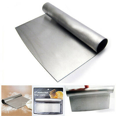 Stainless Steel Dough Scraper Handle Cutter Pastry Blade Pizza Kitchen Cake Tool