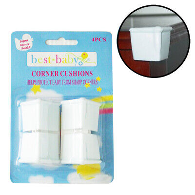 4 Pc Kid Safety Edge Corner Cushion Protectors Baby Table Desk Soft Safe Guard