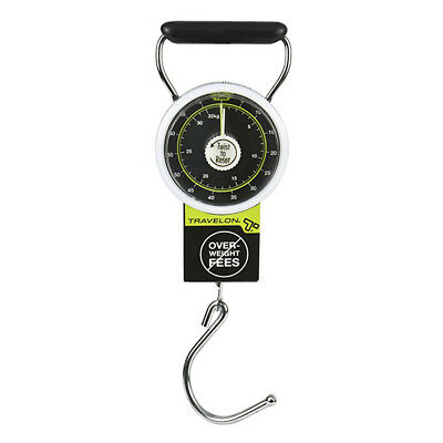 Travelon Luggage Scale Stop Lock Tape Measure New 75 LB Hanging Travel Weight !!