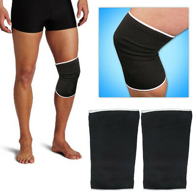 2 Elastic Patella Knee Support Brace Sleeve Support Soft Wrap Sports Protector !