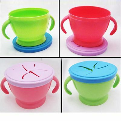 Baby Toddler Feeding Bowl Food Container Snack Keeper Pod Traveling Cup Handles