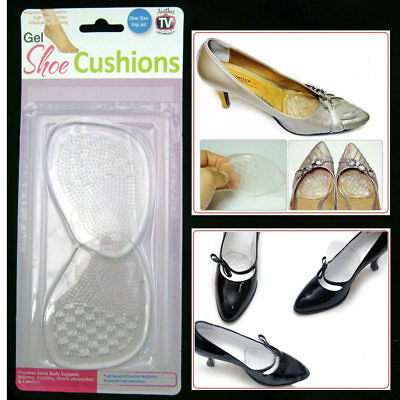 Gel Silicone Shoe Cushions High Heel Insoles Antislip Shoes Pad Foot Care New !!