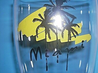 Miami Yellow tallPilsner beer glass Very Unique Rare Hard to Find Free Shipping