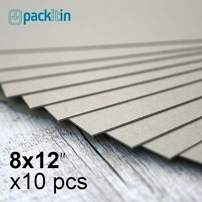 """8x12"""" Backing Boards - 10 sheets 700gsm - chipboard boxboard cardboard recycled"""