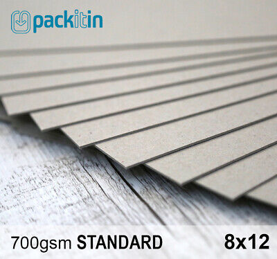 """8x12"""" Backing Boards - 100 sheets 700gsm - chipboard boxboard cardboard recycled"""