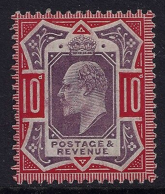 1902-1910 SG256 KEVII 10d DULL PURPLE & SCARLET MINT MH/MM