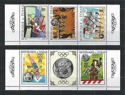 TCHAD 1970 MiNr: 325 - 329 ** MNH OLYMPIC GAMES MUNICH GERMANY
