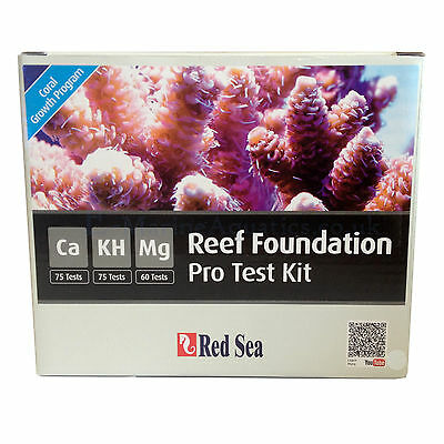 Red Sea Reef Foundation Pro Test Kit (Marine) Calcium, Magnesium & Alk /kh