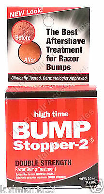 New Look High Time BUmp Stopper - 2 Double Strength Razor Bump Treatment 0.5 oz.