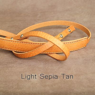 "The 1901 ""Steichen"" Leather Camera Strap - 115cm - Light Sepia Tan"
