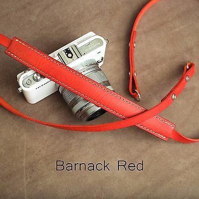 "The 1901 ""Steichen"" Leather Camera Strap - 115cm - Barnack Red"