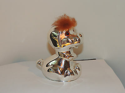 Chrome plate Dog Bank with Key over 4 inches marked Denmark (8963)