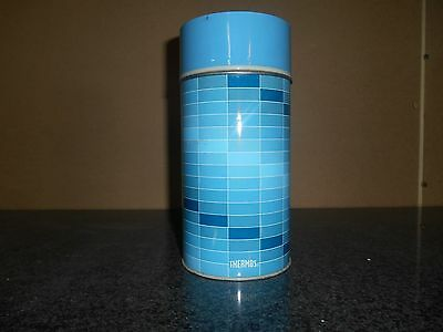 Vintage Collectible King Seeley Blue Plaid 1 Pint Metal Thermos U.s.a.