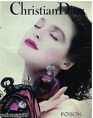 Publicité Advertising 1991 Parfum Poison par Christian Dior