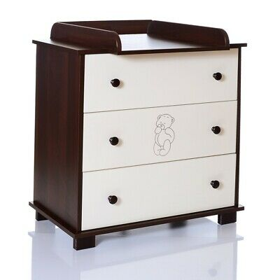 Baby Chest of Drawers Baer brown Changing Table unit children room LCP Kids