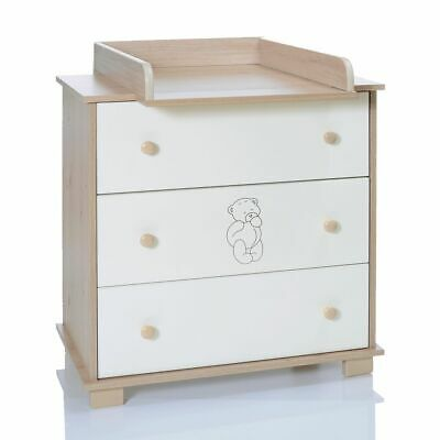Baby Chest Baer Changing Table removeable unit with 3 Drawers LCP Kids 69