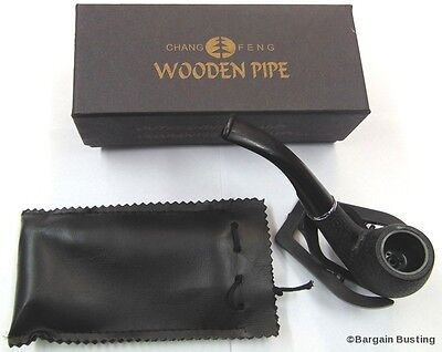 Genuine Premium Quality Chang Feng Wooden Effect Pipe Gift Boxed