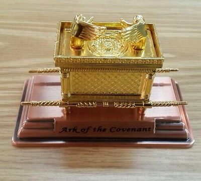Ark Of the Covenant Replica Gold Plated-Small-Israel Copper Base