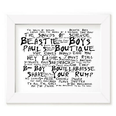 `Noir Paranoiac` BEASTIE BOYS Art Print Typography Song Lyrics Signed Poster