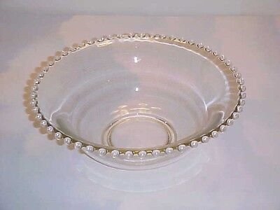 Imperial Glass Clear Candlewick  400/63B Salad Console Bowl
