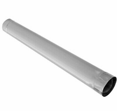 "Chimney Flue Liner Pipe 125mm / 5"" - 1 meter Stainless Steel Pipe Ducting Tube"