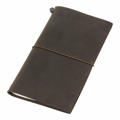 Midori Traveler's Notebook Brown Leather Regular size Japan New