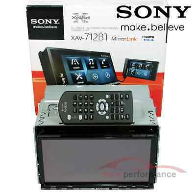 "Sony XAV-712BT 7"" Double Din Monitor Mirrorlink Bluetooth Car Stereo Player- New"