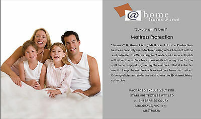King Single Size Fully Fitted 150GSM Quilted Mattress Protector