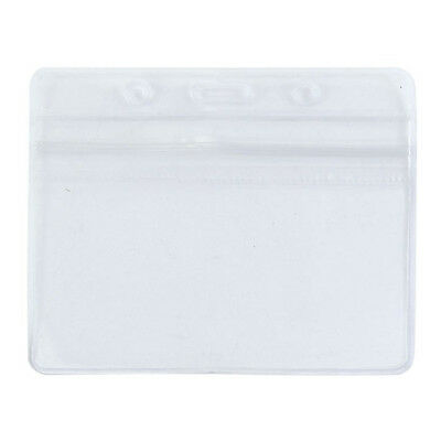 Clear PVC Waterproof Horizontal Exhibition ID Name Card Badge Holders WS