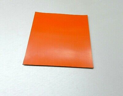 """SILICONE RUBBER SHEET HIGH TEMP SOLID RED/ORANGE COMMERCIAL GRADE 4"""" x 4"""" x 1/8"""""""