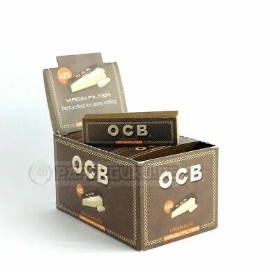 1 Box (25x) OCB Filter Tips Virgin Slim Perforiert Ungebleicht Unbleached
