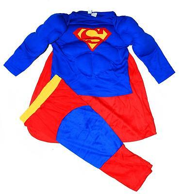 NEW Sz 2~12 KIDS COSTUME SUPERMAN MUSCLE TODDLER BOYS DRESS UP OUTFIT PARTY MASK