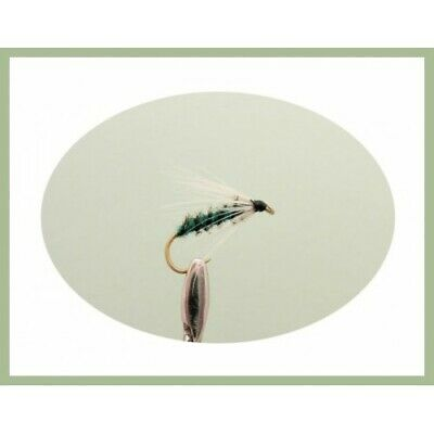 Choice of Sizes Teal Blue /& Silver Fishing Flies Wet Trout Flies 6 Pack