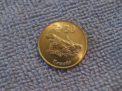 1998  Indonesia coin 50 R   Komodo dragon  sweet classic coin uncirculated