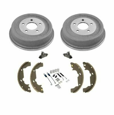 New Disc Rotors Pads Rr Brake Drums Shoes /& Shoe Springs 7pc for Mazda 2 11-15