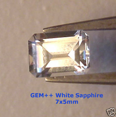 2.38 Ct Matched Pair 7x5 mm E IF Modern EMERALD CUT BRIGHT WHITE SAPPHIRES