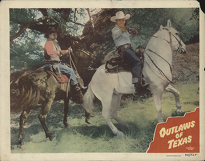 Outlaws of Texas 1950 Original Movie Poster Action Drama Western