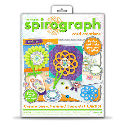 Spirograph Greeting Card Creation Set - Create your own gift tags & cards Age 6+