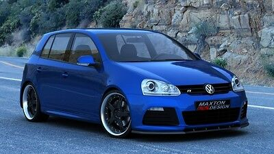 Front Splitter (Textured) For Vw Golf 5 (For Bumper Mk6 R20 Look)