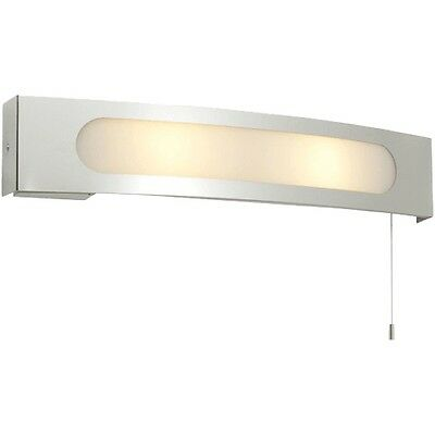 Saxby 39148 Convesso Contemporary Switched Bathroom Wall Shaver Light Chrome