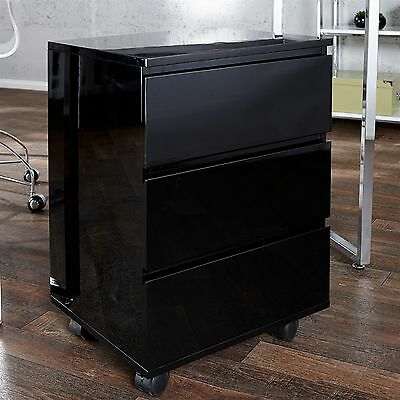 "MOBILE FILE CABINET ROLL | black, 25.5x17.5x15.5"", wood 