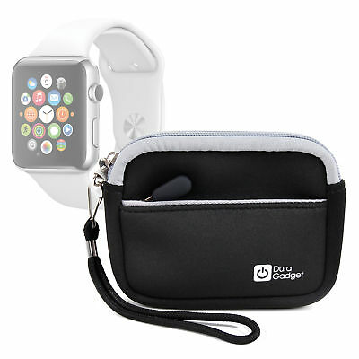 Black Water-Resistant Neoprene Travel Case / Cover for Apple Watch | Series 2
