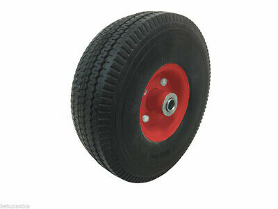 White Central Centre Sit On Lawn Mower Wheel Puncture Proof 16mm - 4.10/3.50 - 4